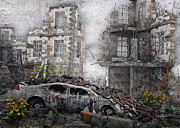 Survivors Prints - Survivors between Ruins Print by Jutta Maria Pusl