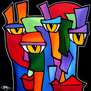 Abstract Music Painting Originals - Survivors by Tom Fedro - Fidostudio