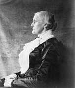 Susan B. Anthony Framed Prints - Susan B. Anthony 1820-1906, Ca. 1890 Framed Print by Everett