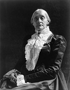Susan Brownell Anthony Prints - Susan B. Anthony (1820-1906) Print by Granger