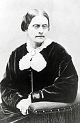 Susan B. Anthony Framed Prints - Susan B. Anthony 1820-1906, In 1871 Framed Print by Everett