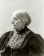 Susan B. Anthony Framed Prints - Susan B. Anthony 1820-1906, In 1890s Framed Print by Everett
