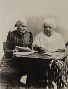 Activists Art - Susan B. Anthony And Elizabeth Cady by Everett