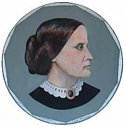 Susan B. Anthony Framed Prints - Susan B Anthony Coin Framed Print by Art Nomad Sandra  Hansen