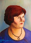 Italy Mixed Media Framed Prints - Susan Boyle Portrait Framed Print by Dan Haraga