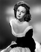 Fur Trim Framed Prints - Susan Hayward, 1949 Framed Print by Everett