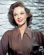 1950s Portraits Prints - Susan Hayward, 1950s Print by Everett