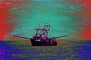 Trawler Metal Prints - Susan Rose Metal Print by Richard Henne