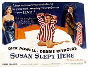 Pajamas Art - Susan Slept Here, Anne Francis, Debbie by Everett