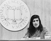 Leftist Framed Prints - Susan Sontag 1933-2004 Prominent Framed Print by Everett