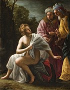 Bible Painting Prints - Susanna and the Elders Print by Ottavio Mario Leoni