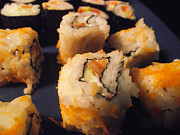 Salmon Digital Art Originals - sushi California Roll Uramaki by Vasil Georgiev