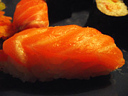 Salmon Digital Art Originals - Sushi nigri by Vasil Georgiev
