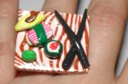 Black Ring Jewelry - Sushi Ring 3 by Megan Brandl