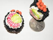 Food Jewelry - Sushi Roll Large Beads by Megan Brandl