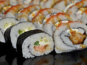 Home Made Food Photos - Sushi Rolls From Home by Carolyn Marshall