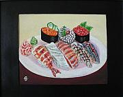 American Food Paintings - Sushi by Silvia Gold