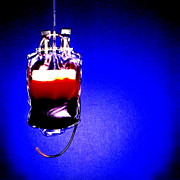 Half Full Framed Prints - Suspended Blood Bag Framed Print by Kevin Curtis