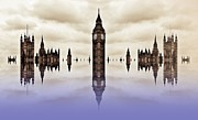 Big Ben Posters - Suspended Government Poster by Sharon Lisa Clarke
