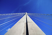 Support Framed Prints - Suspension Bridge Pylon Framed Print by Artur Bogacki