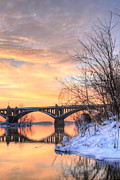 Wrightsville Prints - Susquehanna Sunrise Print by JC Findley