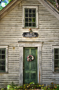 Entrance Door Digital Art Posters - Sutton NH Meeting House Poster by Tricia Marchlik