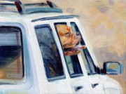 Mastiff Dog Paintings - SUV Ammo by Kimberly Santini