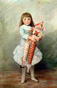 Doll Paintings - Suzanne by Pierre Auguste Renoir