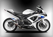 Motorcycle Photos - Suzuki gsxR by Carl Shellis