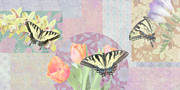 Decor Photography Painting Posters - Swallowtail Butterfly 3 Pastel Poster by JQ Licensing