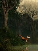 Swamp Fox Print by Daniel Eskridge
