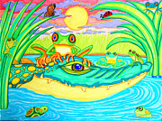 Sun Drawings - Swamp Life by Nick Gustafson