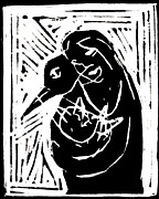 Swan And Human Mothers Print by Edgeworth Johnstone