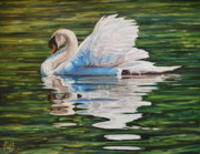 Swan Print by Henry David Potwin