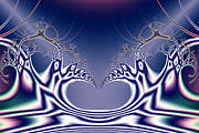 Fractal Geometry Digital Art Metal Prints - Swan Lake Ballet . S7 Metal Print by Wingsdomain Art and Photography