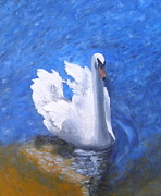 Symbolize Prints - Swan Lake Print by Julie Sauer