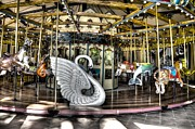 Swan Seat At The Carousel  Print by Michael Garyet
