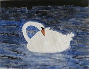 Enjoying Prints - Swan  Print by Sonali Gangane