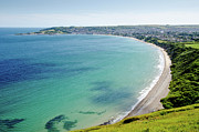 Sandy Prints - SWANAGE BLUE the clear waters of Swanage Bay in Dorset England UK Print by Andy Smy