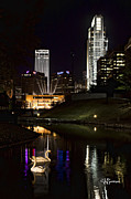 Omaha Ne Photos - Swans at Night by Jeff Swanson