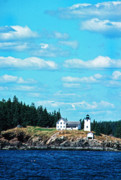 New England Lighthouse Prints - Swans Island Lighthouse Print by Thomas R Fletcher