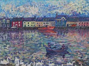 Swans... Paintings - Swans on the Galway Shore by Noreen Hegarty