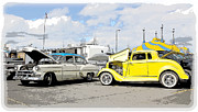 Swap Meet Plymouth And Chevy  Print by Steve McKinzie