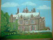 Hall Pastels Posters - Swarcliffe Hall Poster by Mark Dermody