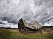 Old Cabins Photos - Sway Back by Leland Howard