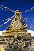 Temple From Nepal Framed Prints - Swayambhunath Stupa Framed Print by Gloria & Richard Maschmeyer - Printscapes