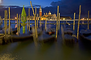 At Night - Swaying Gondolas by Heiko Koehrer-Wagner