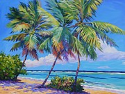Clarke Paintings - Swaying Palms  by John Clark