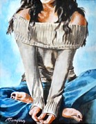Sweater Painting Originals - Sweater N Jeans by Thomas Marquez