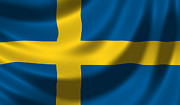 Sweden  Digital Art - Swedish Flag by Hans Engbers